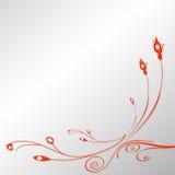Blom- designbakgrund Royaltyfri Bild