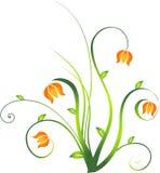blom- designelement Arkivbild
