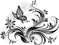 blom- designelement Arkivfoto