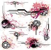 blom- designelement stock illustrationer