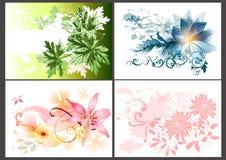 Blom- designelement Vektor Illustrationer