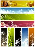 blom- designelement Royaltyfri Fotografi