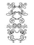 blom- diagram ställde in tappning vektor illustrationer