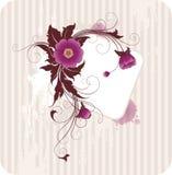 blom- din ramtext Royaltyfri Fotografi