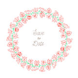 Blom- dragen färg för krans hand Arkivfoto