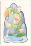 Blom- drake, gåva och blommor Royaltyfri Bild