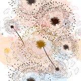 Blom- drog maskrosor för modell hand Royaltyfri Bild