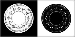 Blom- dubbla plattor Arkivfoton
