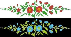 blom- element vektor illustrationer