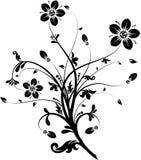 Blom- element för design,   stock illustrationer