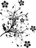 Blom- element för design,   royaltyfri illustrationer
