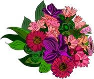 blom- element, vektorillustration Royaltyfria Foton