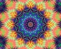 Blom- energimandala Royaltyfri Foto