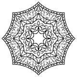 Blom- enkel mandala Arkivfoto