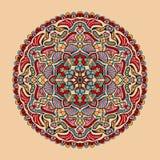 Blom- färgrik mandala för vektor Härlig designbeståndsdel i etnisk stil Arkivbilder