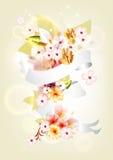 blom- färgrik sammansättning Royaltyfri Illustrationer