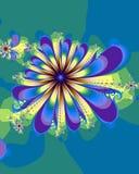 blom- färgstänk royaltyfri illustrationer