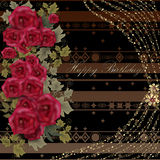 Blom- födelsedaghälsningkort Fotografering för Bildbyråer