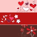 blom- förälskelse för baner royaltyfri illustrationer