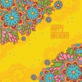Lyckligt födelsedagkort. Arkivfoton