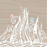 blom- fjäder för abstrakt dekor stock illustrationer