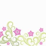 blom- fjäder för bakgrund royaltyfri illustrationer