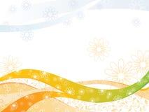blom- fjäder för bakgrund Royaltyfri Bild