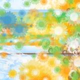 blom- fjäder för bakgrund Royaltyfria Foton