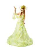 blom- fjäderkvinna royaltyfri bild
