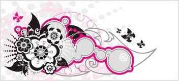 blom- fjädervektor för bakgrund vektor illustrationer