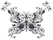 Blom- fjäril Royaltyfri Bild