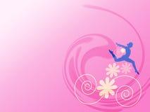 blom- flicka stock illustrationer