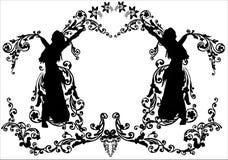 blom- flicka för garnering vektor illustrationer