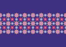 Blom- folkloreprydnad Etnisk vektortextur Dekorativt band i tappningstil Coloful illustration vektor illustrationer