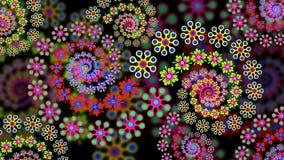 Blom- Fractalbakgrund Royaltyfri Fotografi