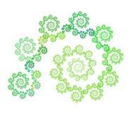 blom- fractalspiral Arkivbild