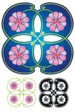 blom- fyrkant Arkivfoton