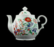 blom- gammal teapot för färgrik design Arkivfoton