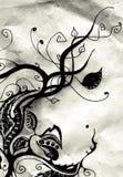 blom- gammalt för design stock illustrationer