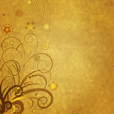 blom- gammalt prydnadpapper Arkivbild