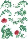 blom- garnering royaltyfri illustrationer