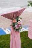 Blom- garnering för original- bröllop Royaltyfri Fotografi