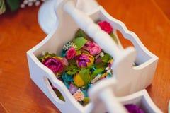 Blom- garnering för original- bröllop Arkivfoton