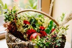 Blom- garnering för original- bröllop Höstgarnering, garnering royaltyfria foton