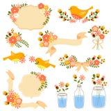 Blom- garneringar vektor illustrationer