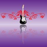 blom- gitarr Arkivbild