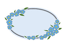 blom- glöm inramniner mig inte Stock Illustrationer