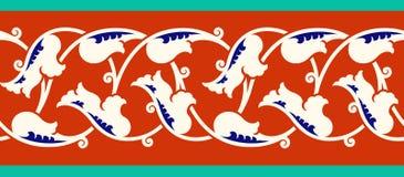 Blom- gräns för din design Sömlös prydnad för traditionell turkisk ottoman för ï¿ ½ Iznik stock illustrationer