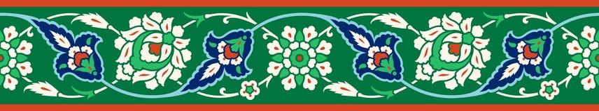 Blom- gräns för din design Sömlös prydnad för traditionell turkisk ottoman för ï¿ ½ Iznik royaltyfri illustrationer