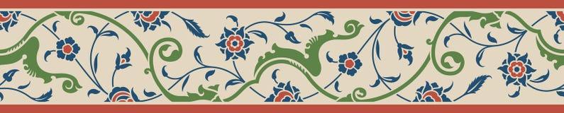 Blom- gräns två royaltyfri illustrationer